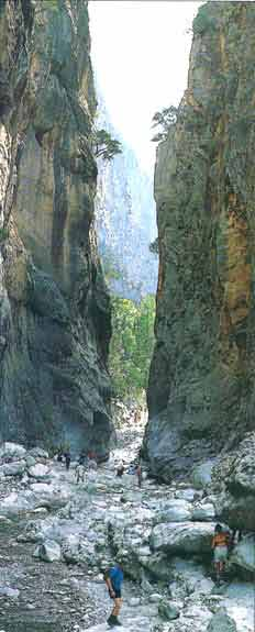 "The famous ""Gates"" of the Samaria gorge"