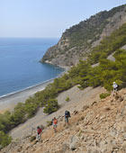 Walking on the hill behind Agia Roumeli